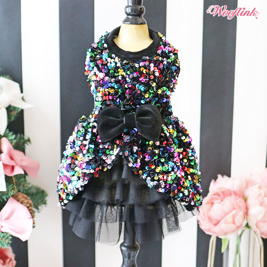 party time dress in multi