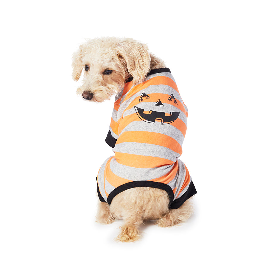 pumpkin stripe pajamas - 1 large left!