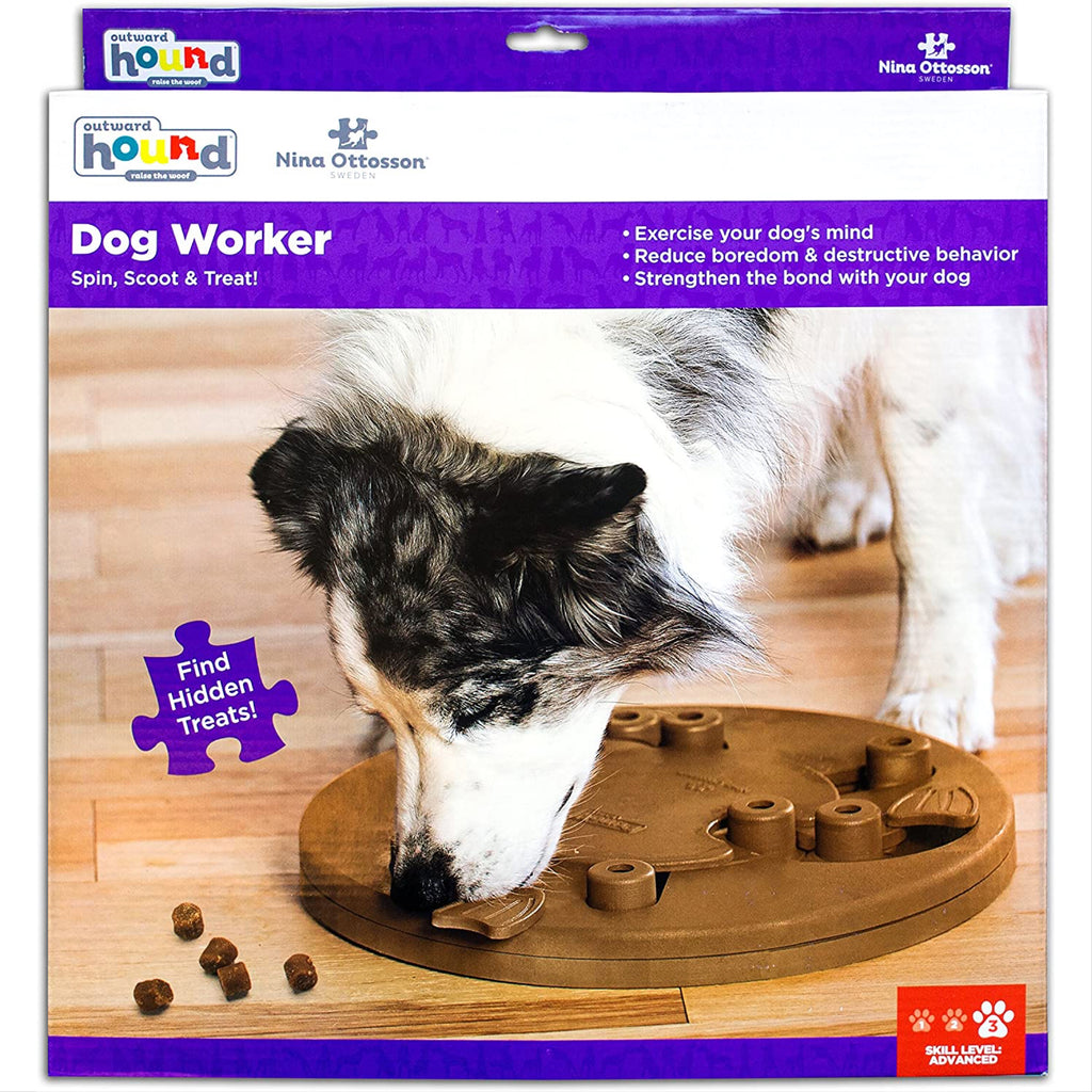 dog worker puzzle toy