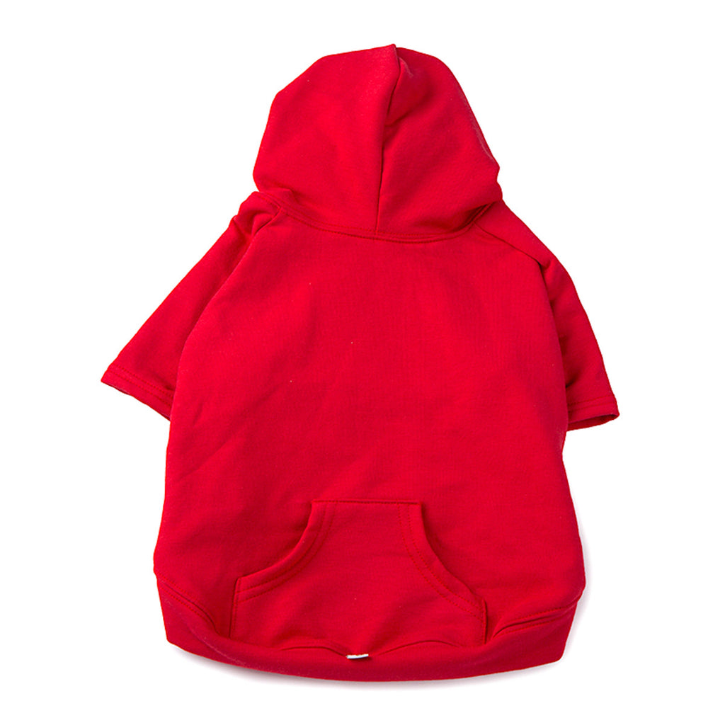 apple hoodie - red