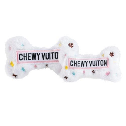 chewy vuitton bone - white