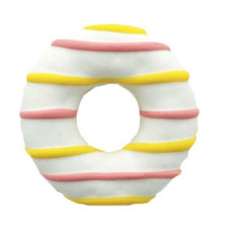 spring donuts - white with stripes