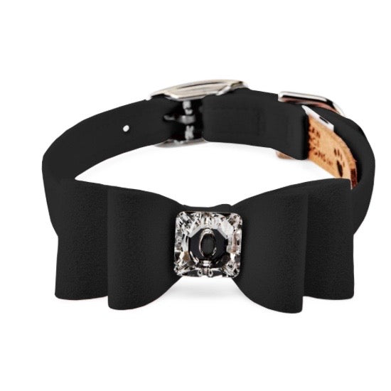 big bow collar - black
