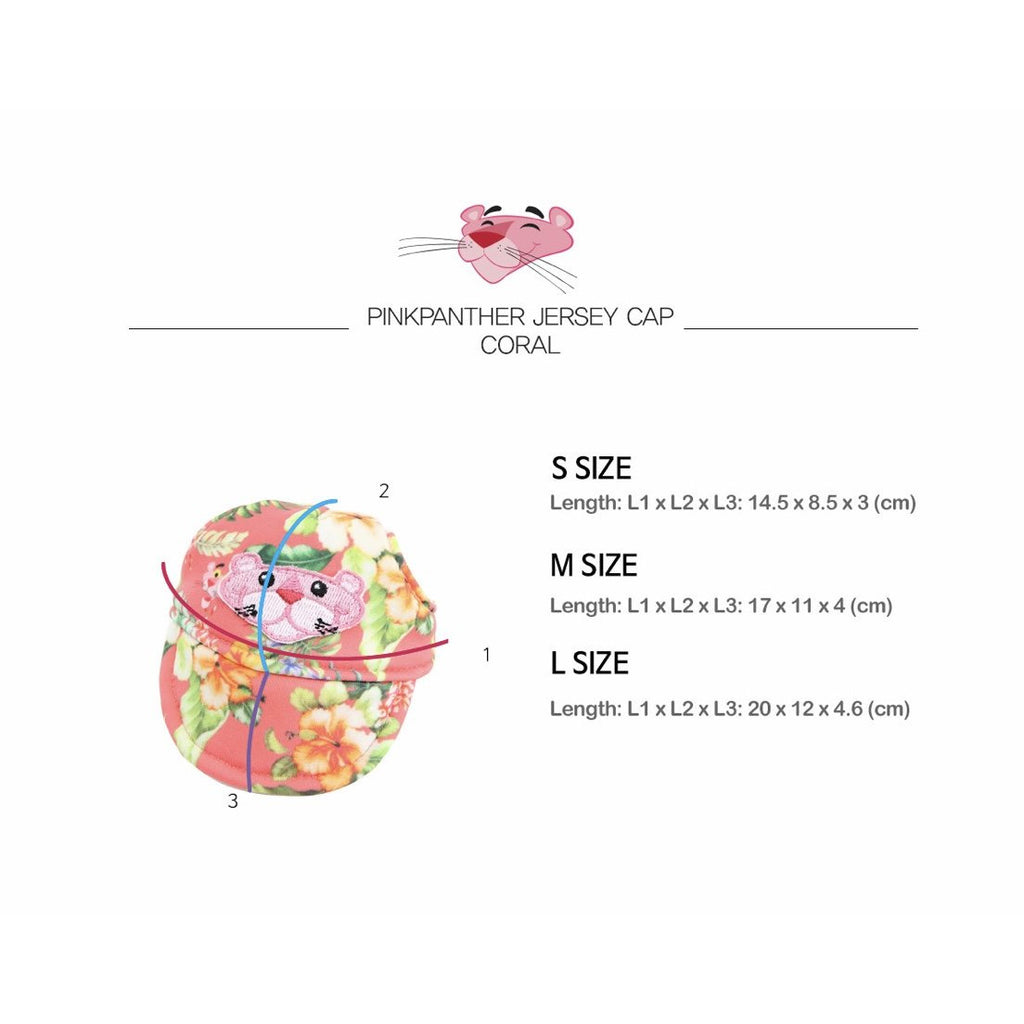 pink panther hat - coral
