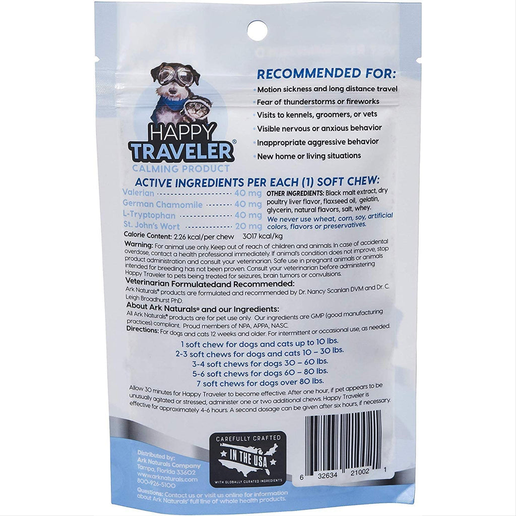 ark naturals happy traveler bite size soft chews
