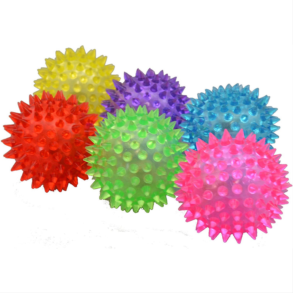 light-up bouncy balls - available in multiple colors & sizes