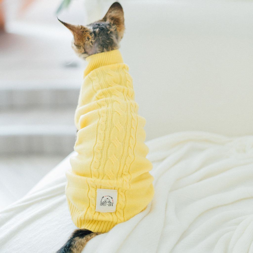 luxe knit sweater - yellow