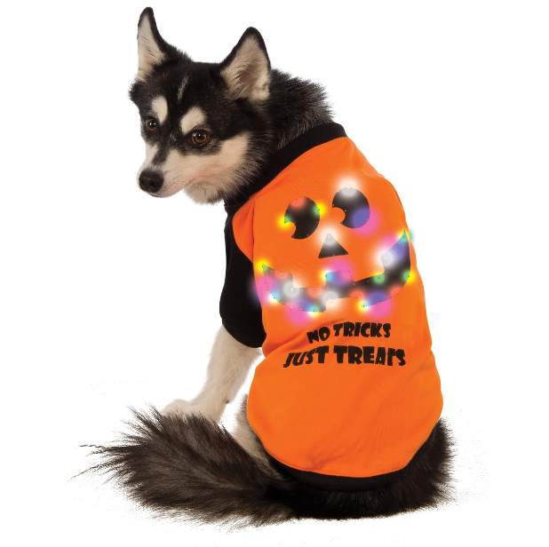 no tricks just treats LED shirt