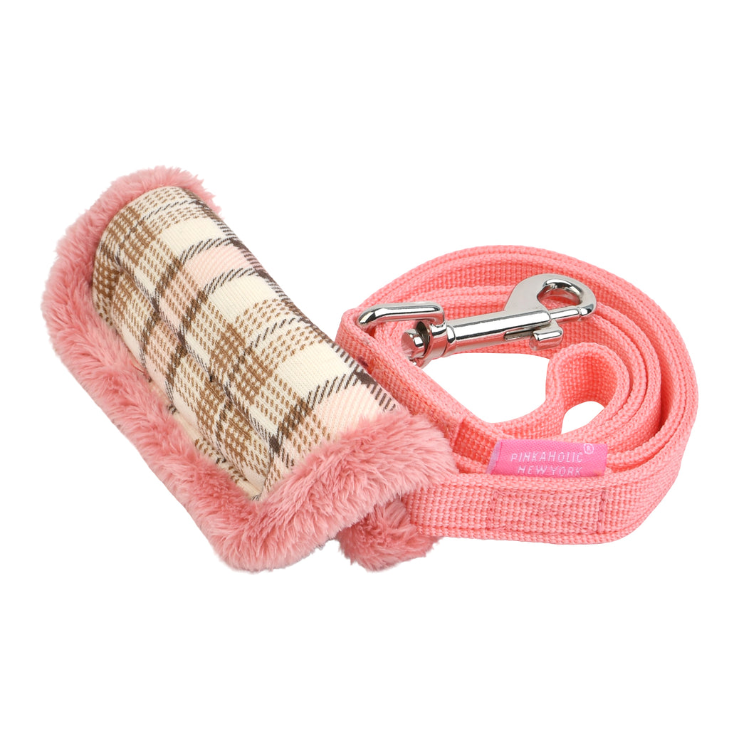 aline leash - pink