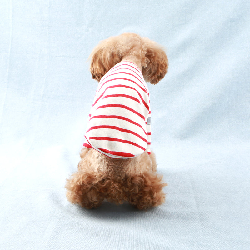 classic striped tee - red