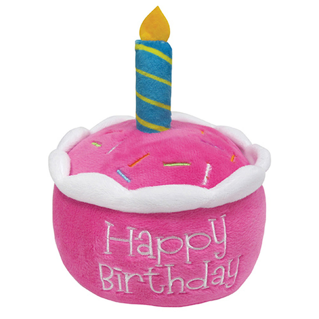 birthday cake plush toy - pink