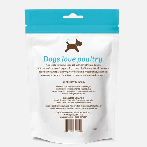 sojos simply turkey freeze-dried dog treats