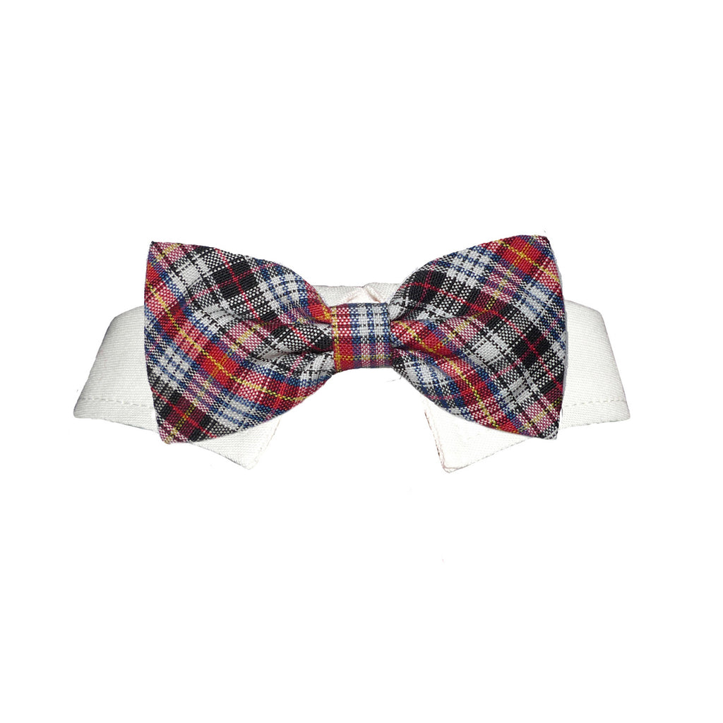 samuel plaid bow tie