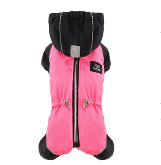 pink snow raincoat overalls - fit is for girls