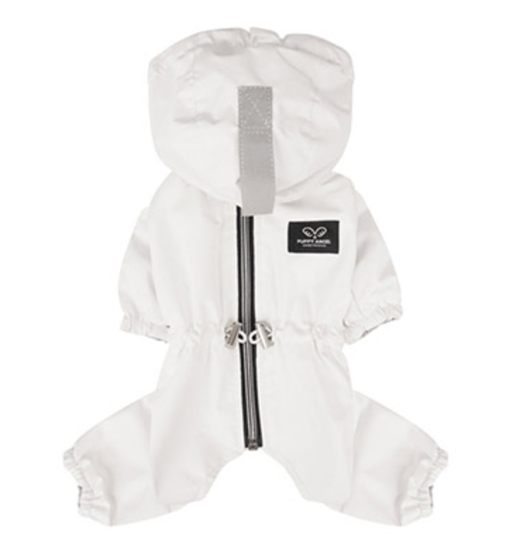 white raincoat overalls - fit is for girls only