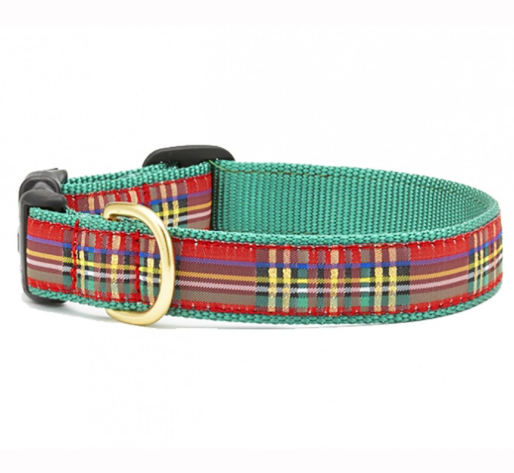 sparkle plaid christmas collar