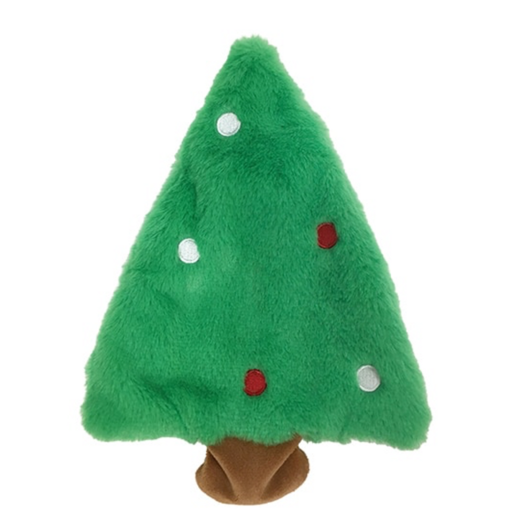 fuzzy stuffless crinkle holiday toy - tree