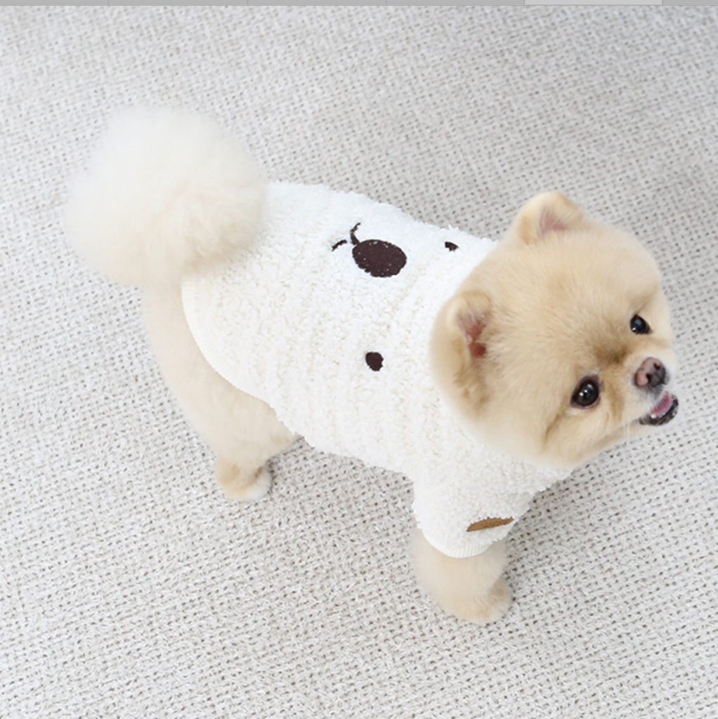 white fuzzy bear sweater - 1 3xl left!