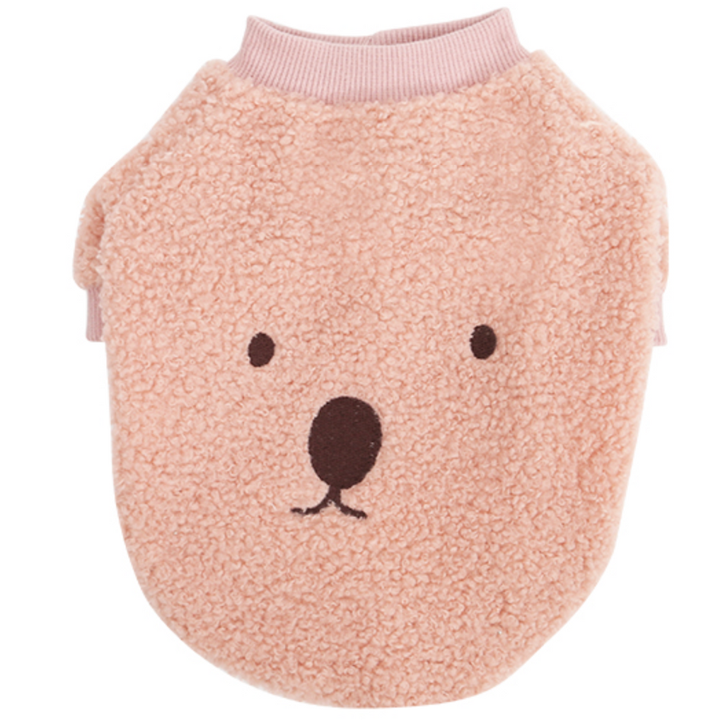 pink fuzzy bear sweater