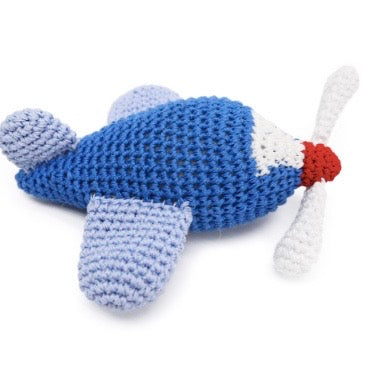 airplane crochet squeaker toy