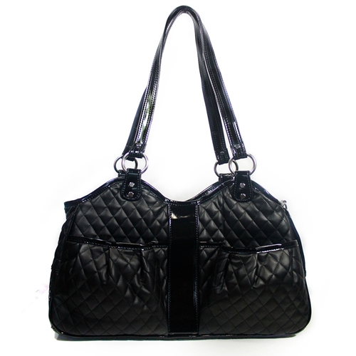 quilted luxe metro - black
