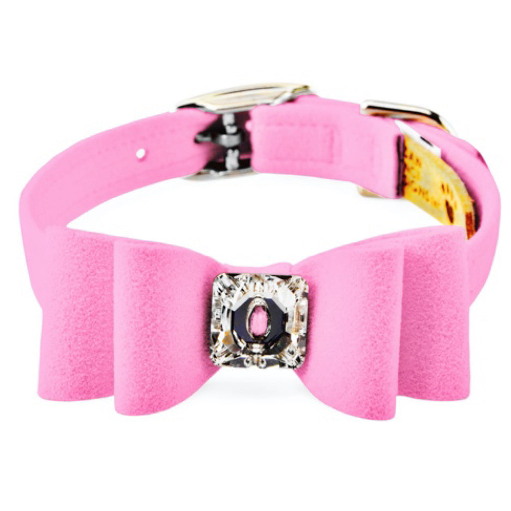 big bow collar - perfect pink