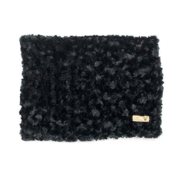 curly sue blanket - black