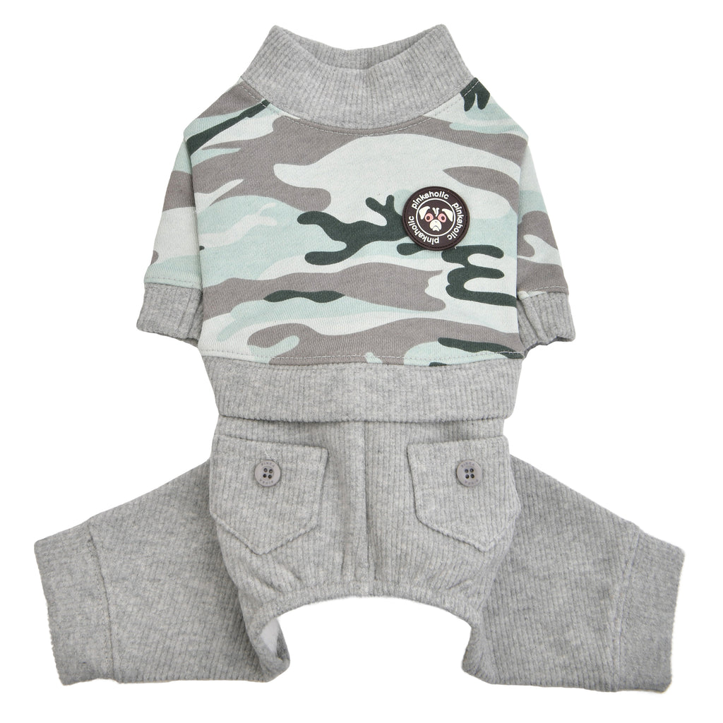 camo jumpsuit - blue