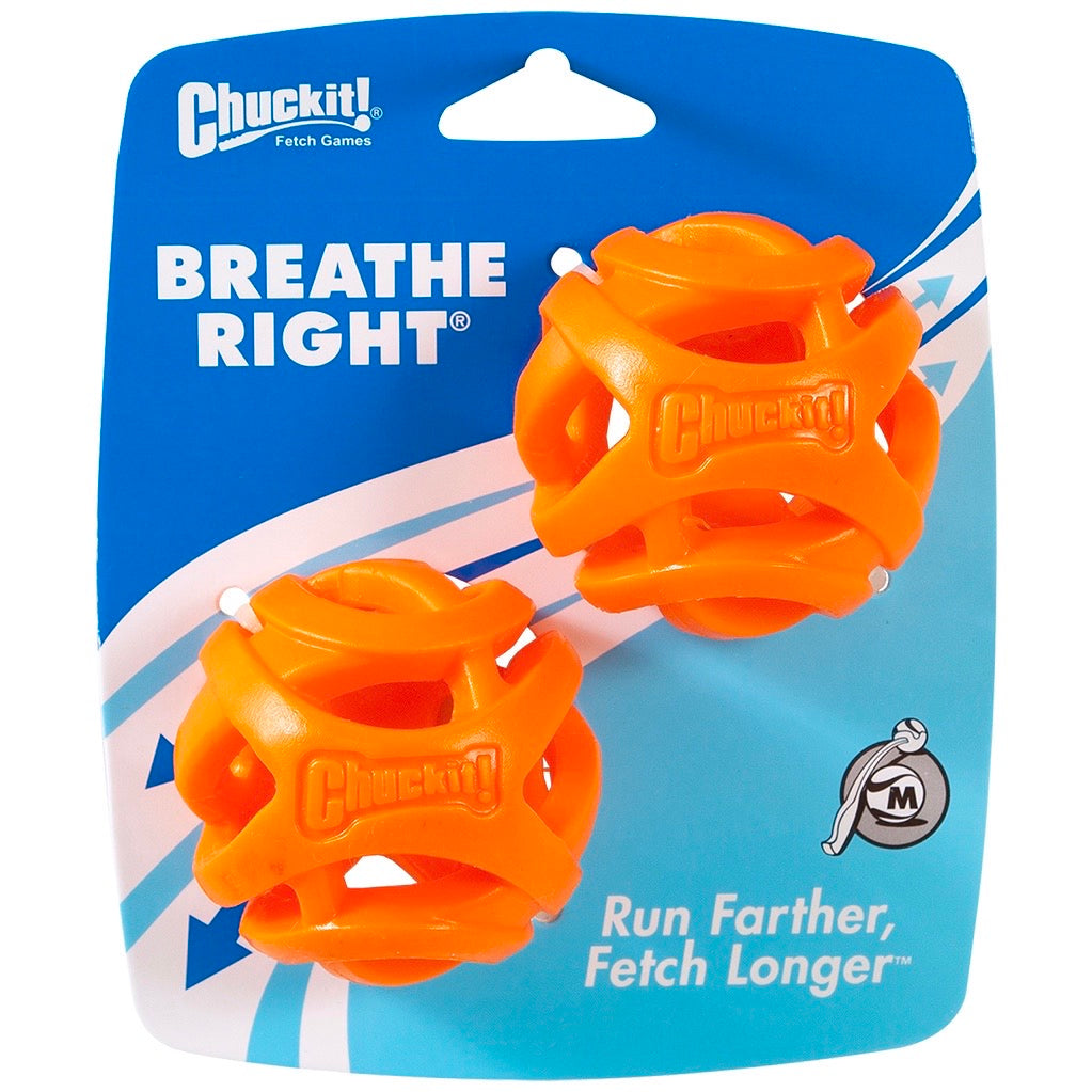 chuckit! breathe right fetch ball - medium 2 pack