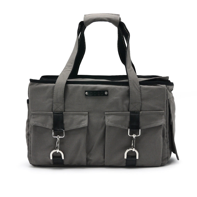 buckle tote - charcoal