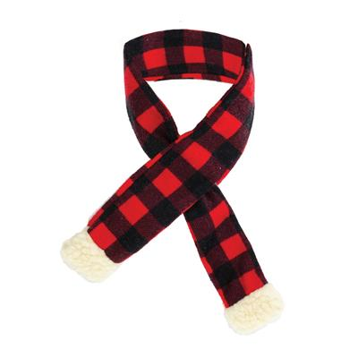 holiday buffalo check scarf