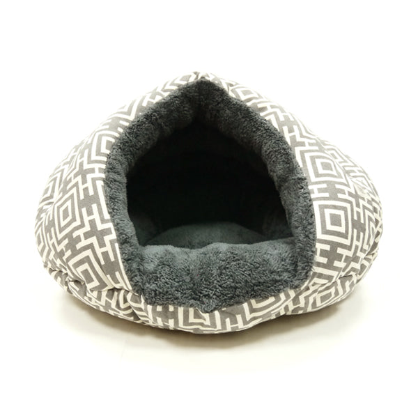 burger bed - modern gray