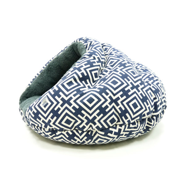 burger bed - modern navy blue