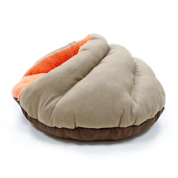 burger bed - solid brown