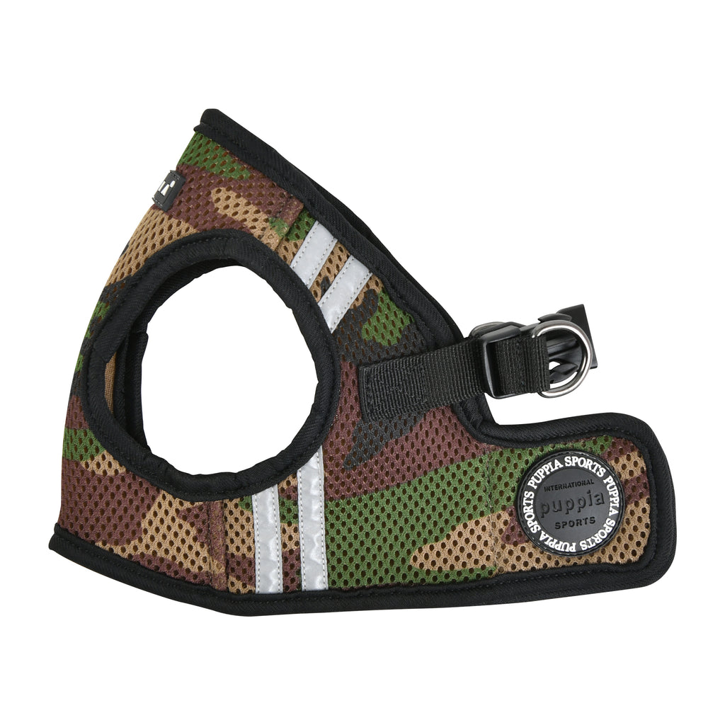 soft vest harness pro with reflective strips - camo