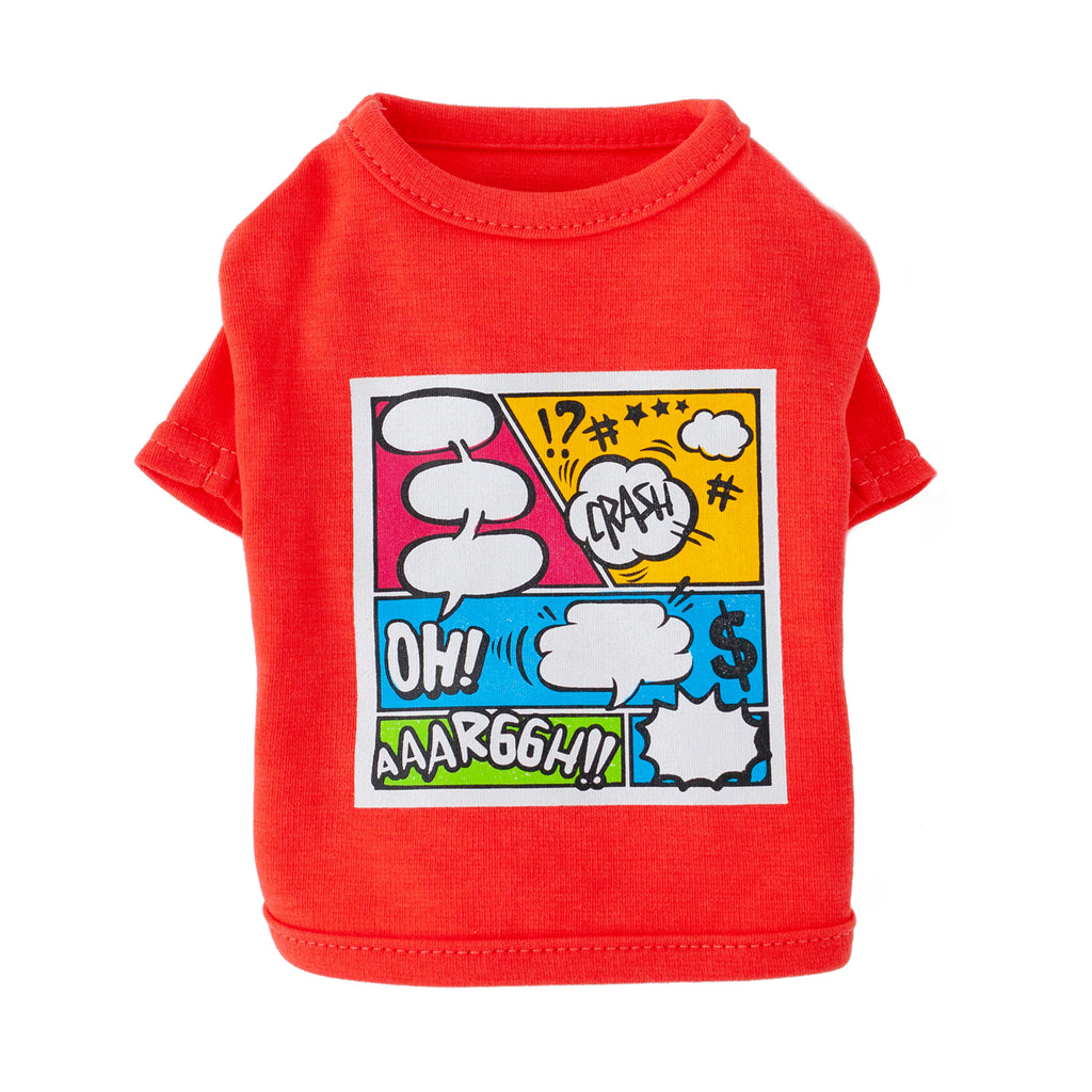 cartoon tee- red
