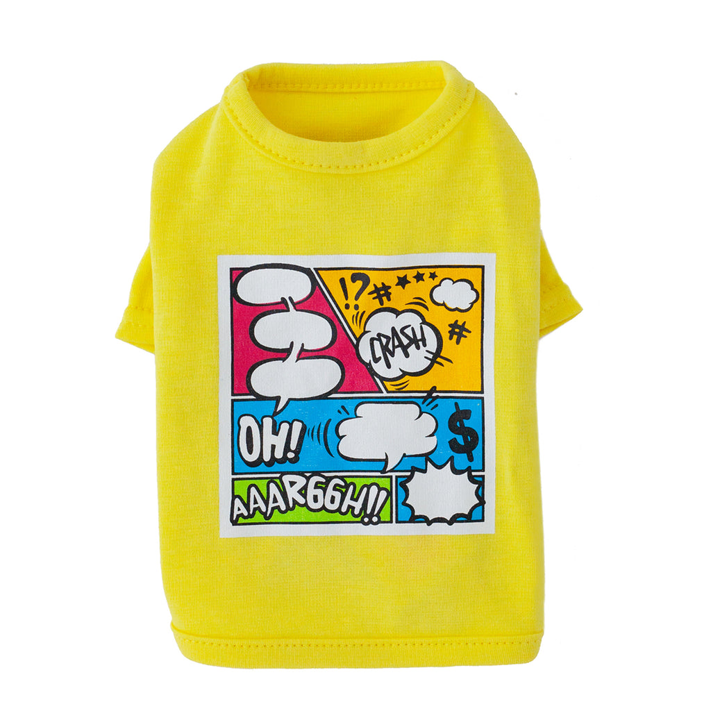 cartoon tee- yellow