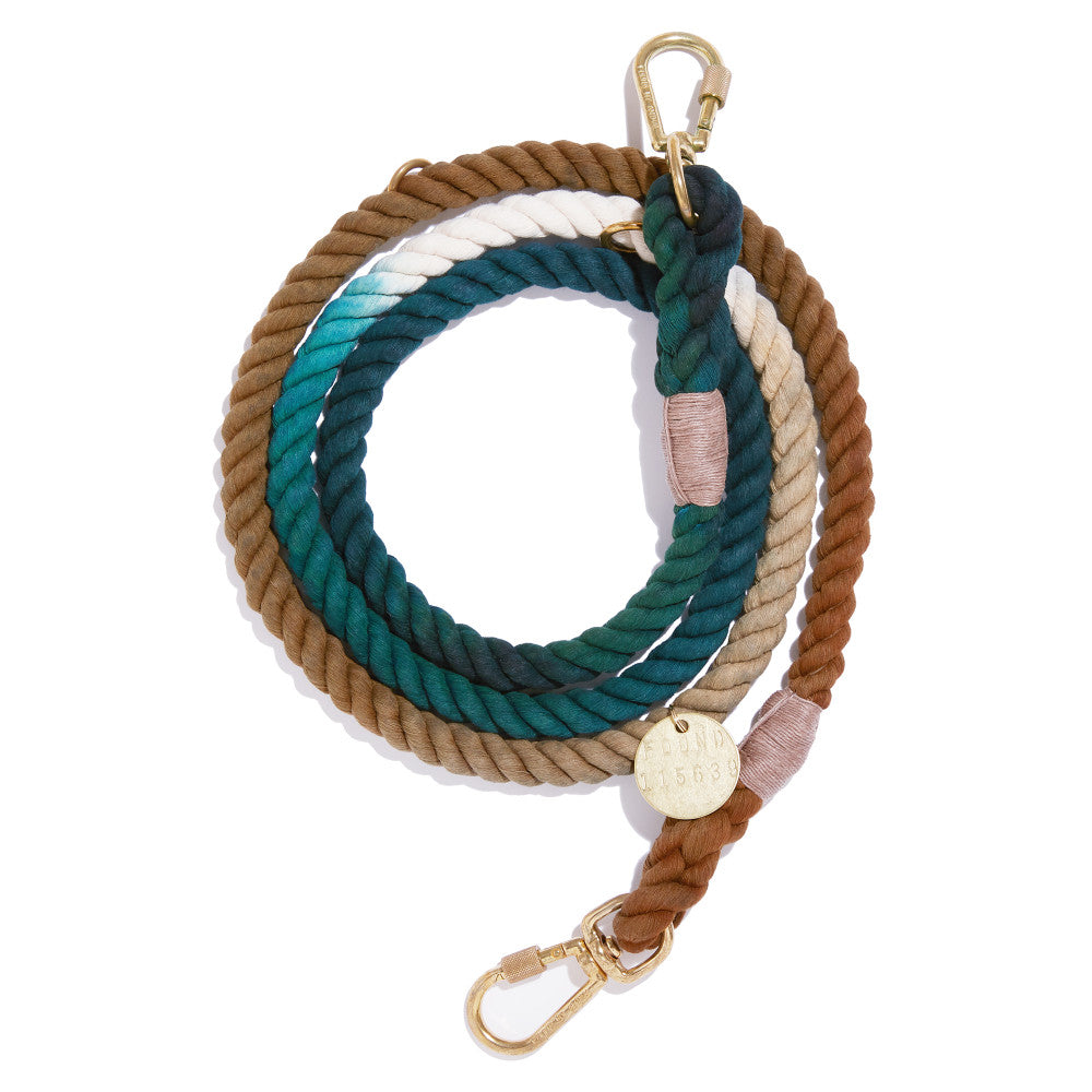 catskill ombre cotton rope leash - adjustable