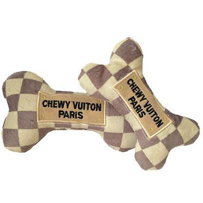 chewy vuitton bone - checkered