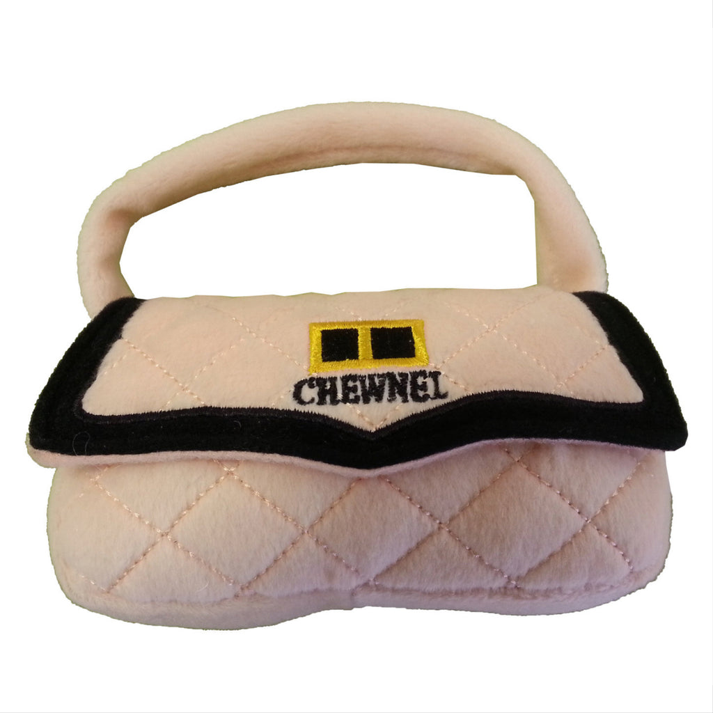 pink chewnel purse toy