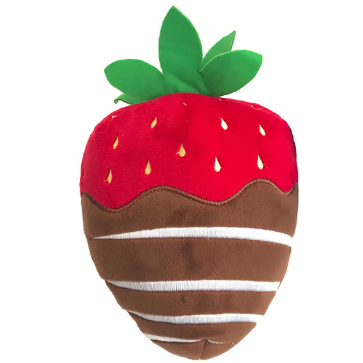 chocolate dipped strawberry plush