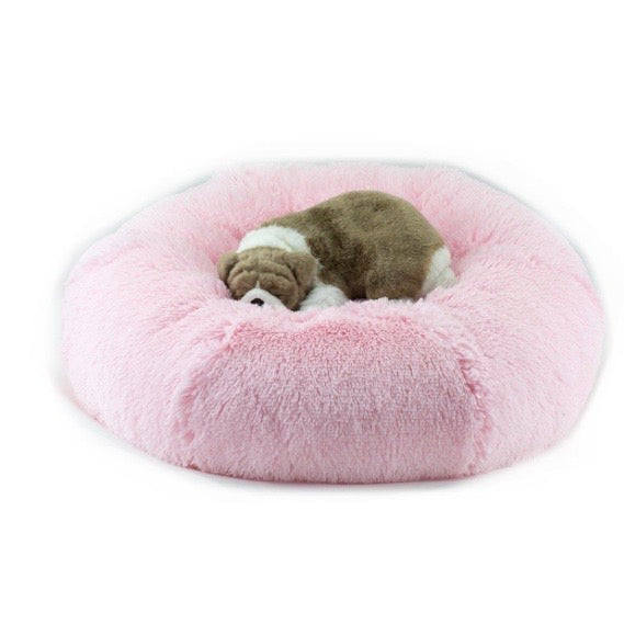 spa dog bed - puppy pink