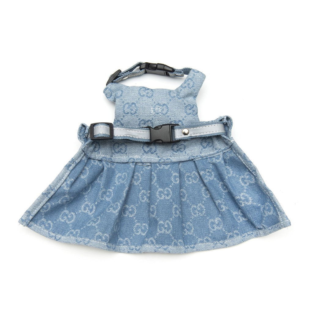 luxury denim dress harness