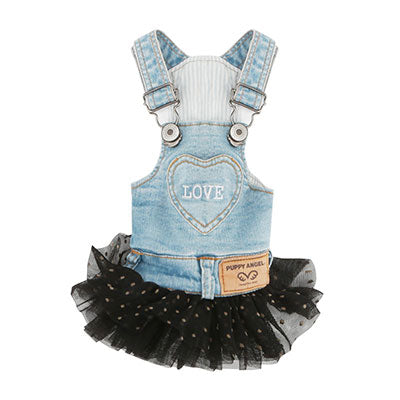 love denim tulle overall - 1 s/m left!
