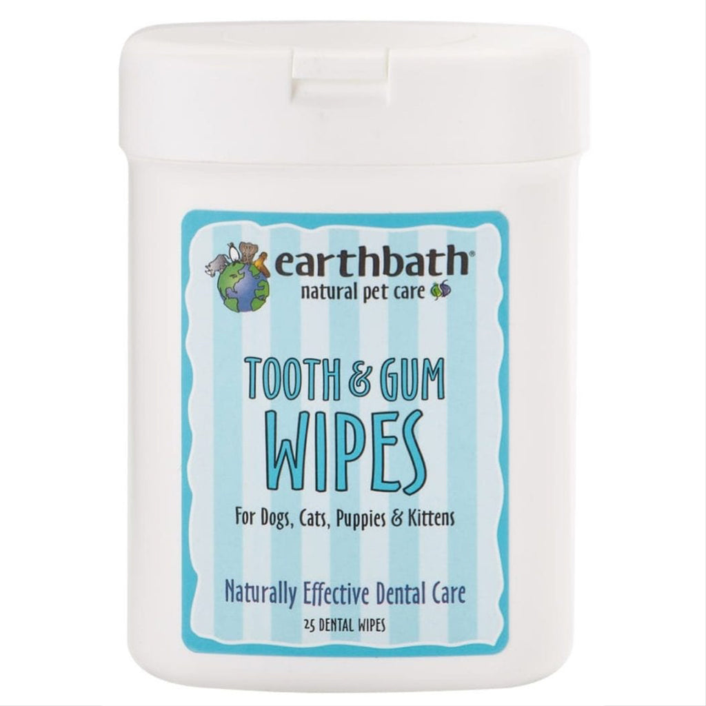 earthbath tooth and gum wipes - 25 wipes