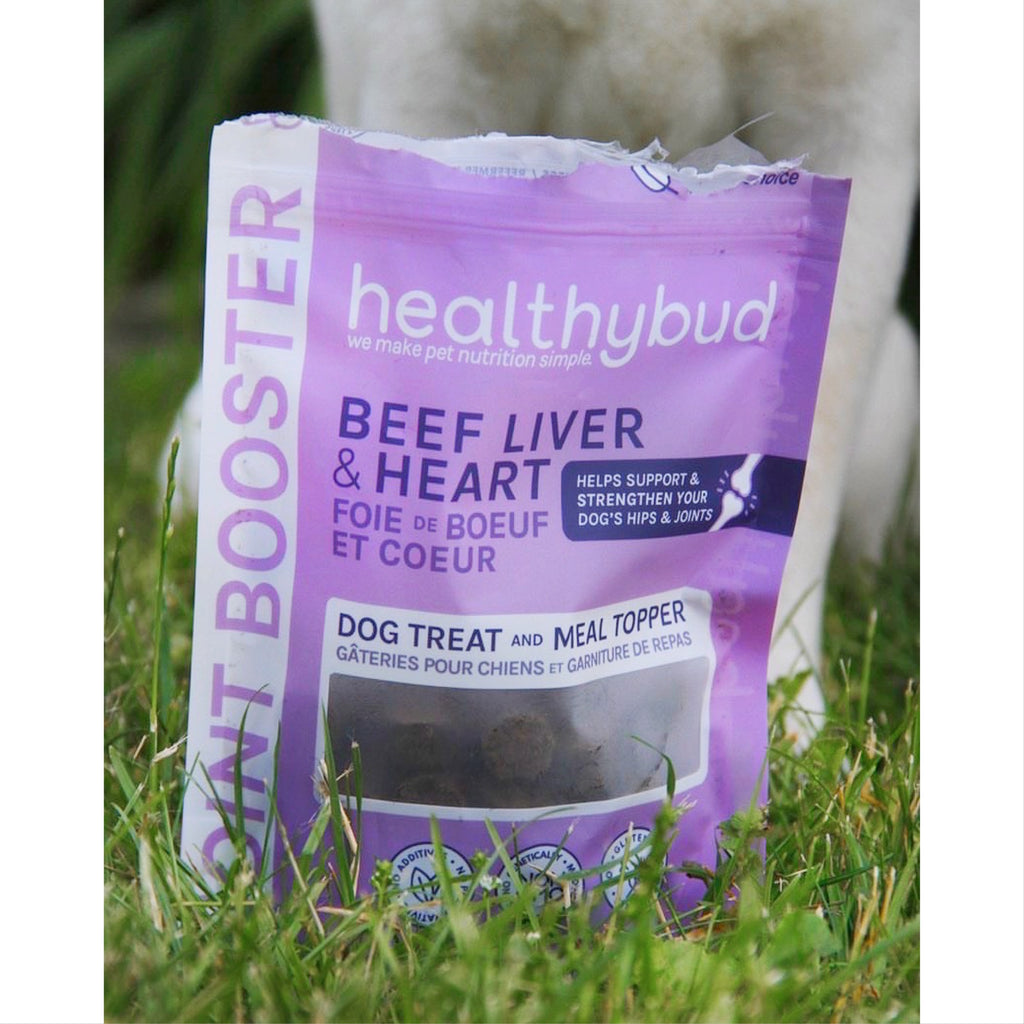 healthy bud - beef liver & heart joint booster