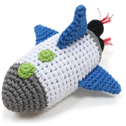 crochet spaceship toy
