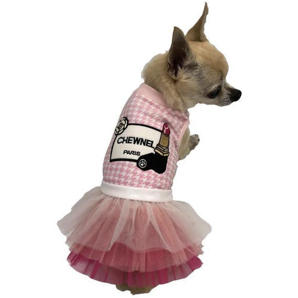 chewnel le rouge tutu dress - pink or grey