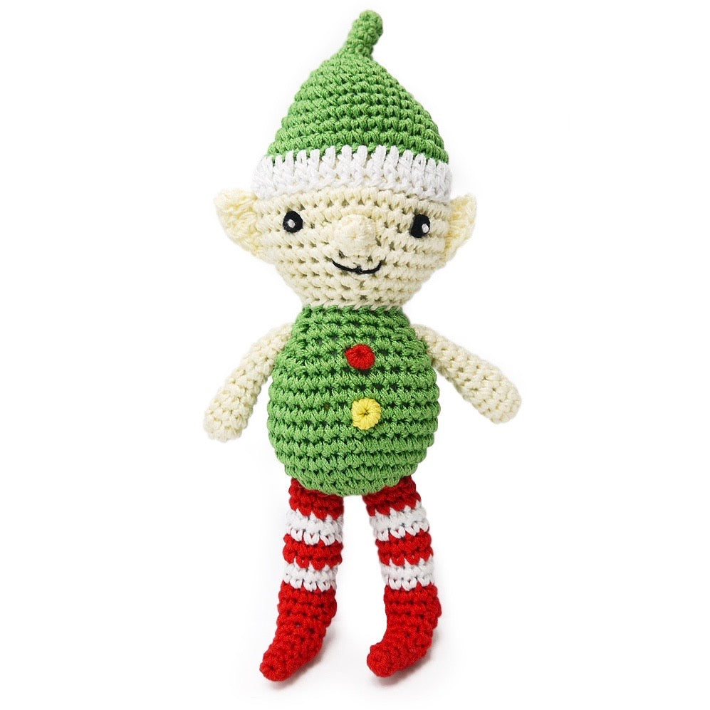 elf crochet squeaker toy