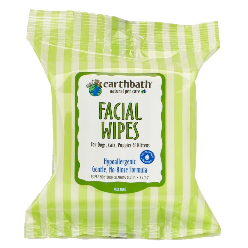 earthbath facial wipes - 25 wipes